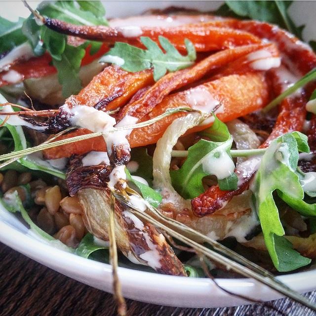 Salade petit peautre carottes et fenouil r ti - Cuisiner le petit epeautre ...