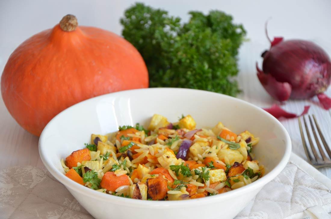 Salade d 39 automne l gumes r tis herbes fraiches par turbigo - Cuisiner chataignes fraiches ...