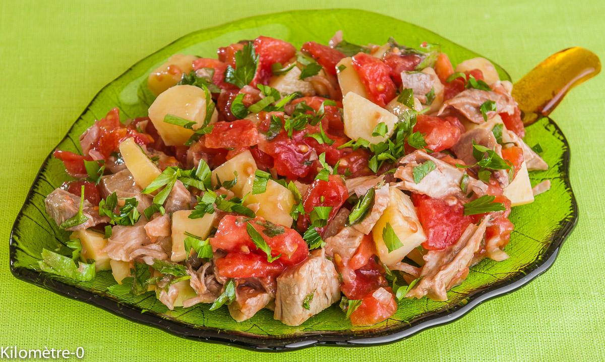 Recettes de tomate et de salade compos e - Cuisiner un jambonneau ...