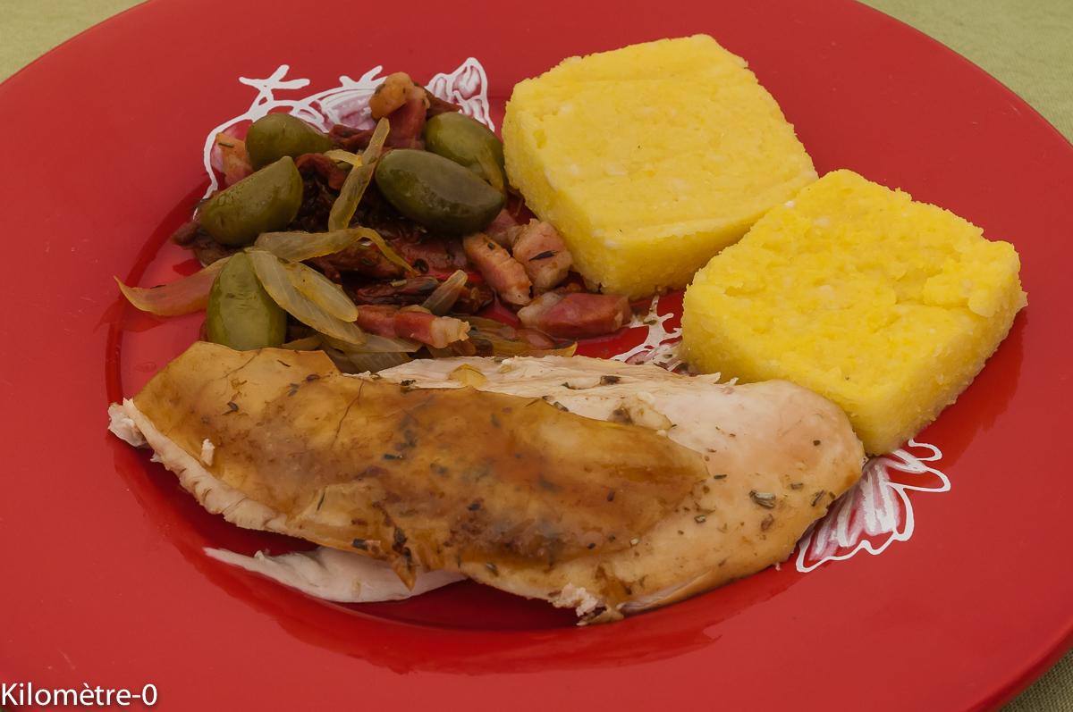 Poulet r ti po l e de l gumes m ridionales et polenta par - Cuisiner un poulet roti ...