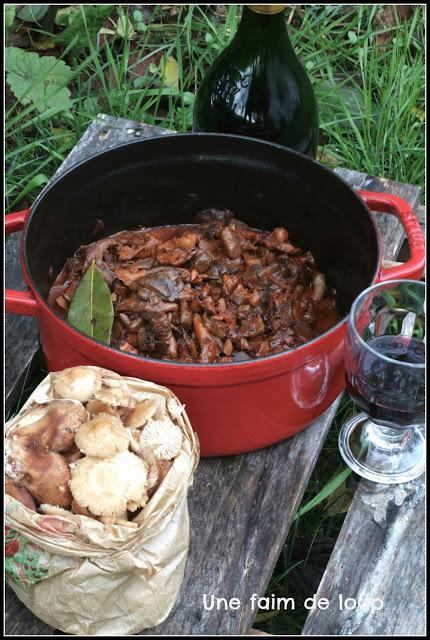 Recettes de sauce par une faim de loup bourguignon de - Cuisiner vesse de loup ...