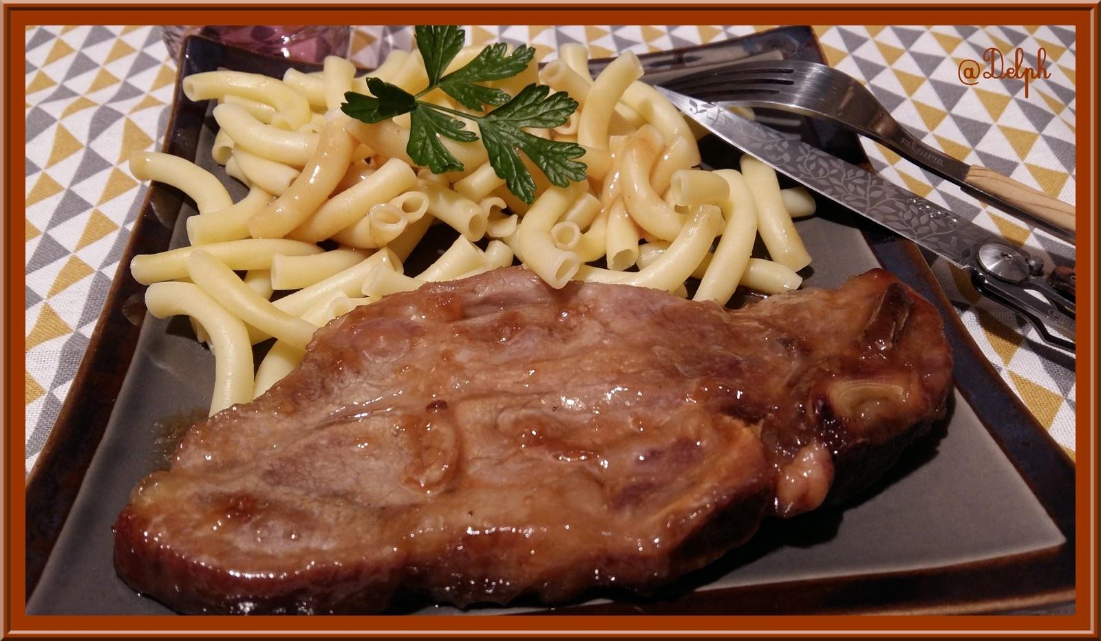 Recettes d 39 ail par oh la gourmande c tes de porc - Cuisiner les cotes de porc ...