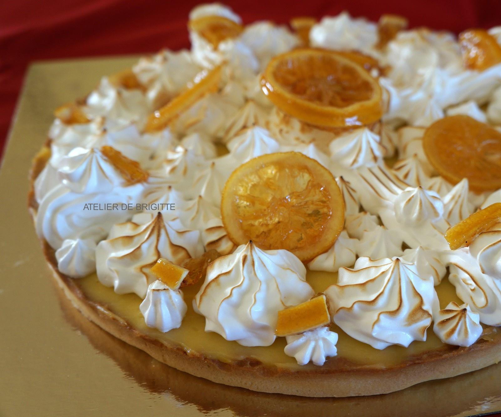 Recettes de meringue par atelier de brigitte tarte au citron iles flottantes et pralin - Recette tarte au citron sans meringue ...
