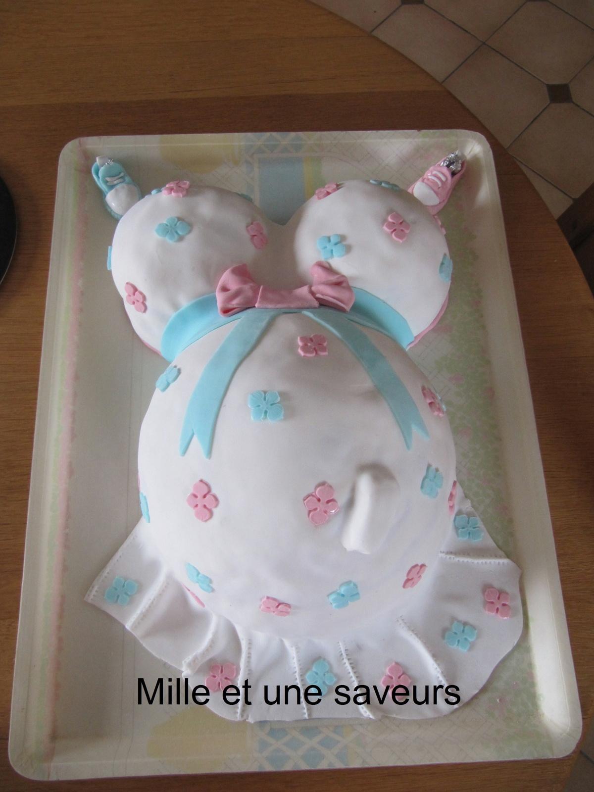 Exceptionnel Gâteau femme enceinte pour un baby shower - mille et une saveurs  QI65