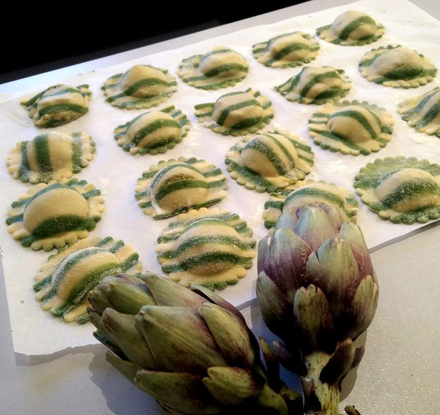 Recettes d 39 artichaut par la pistacheraie raviolis aux - Cuisiner les artichauts ...
