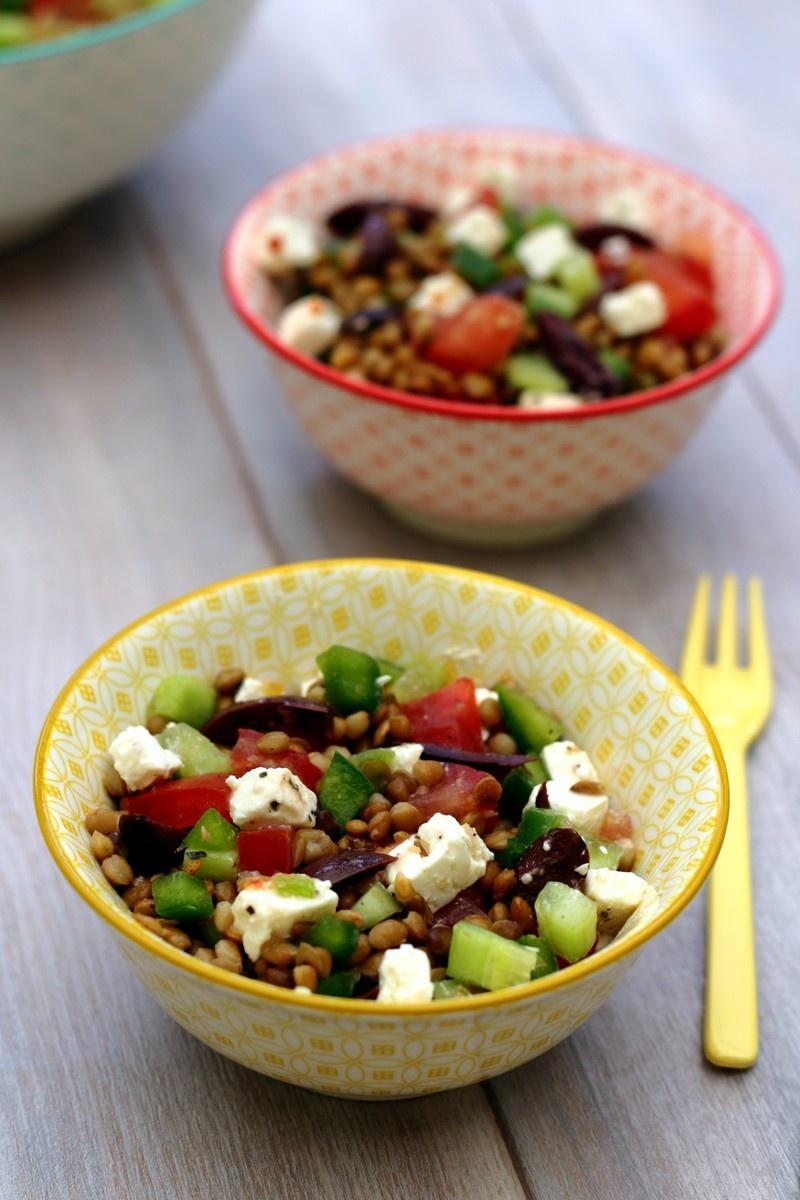 recettes de tomate par amandine cooking salade de lentilles la grecque po l e de courgette. Black Bedroom Furniture Sets. Home Design Ideas
