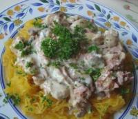 Recettes de sauce par certi 39 ferme courge spaghetti au - Cuisiner des crepinettes ...