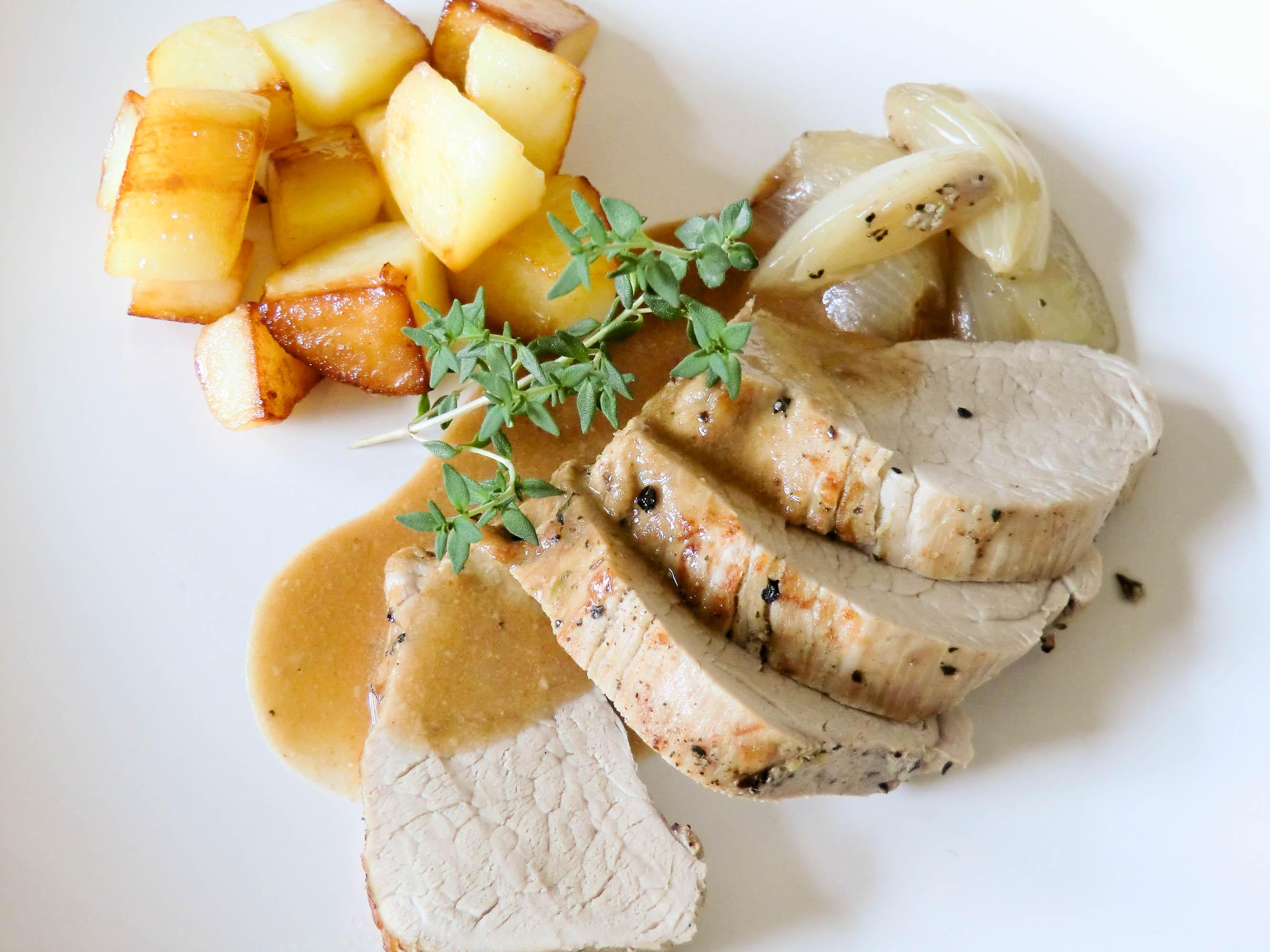 Filet mignon la sarriette recette de filet mignon de porc ou de veau la sarriette par chef - Cuisiner la veille pour le lendemain ...