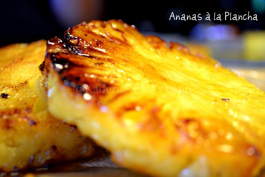 Ananas caram lis la plancha par kaderick for Cuisiner a la plancha
