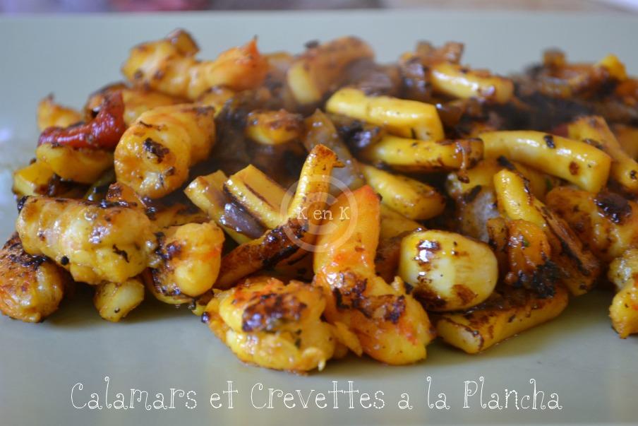 Calamars et crevettes la plancha par kaderick for Cuisine 0 la plancha