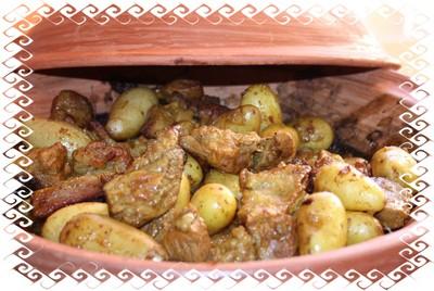 Tajine de veau aux pruneaux cuits au four par la neuvi me plan te - Cuisson tajine au four ...
