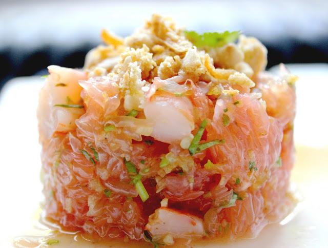 Connu Salade thaïe de pamplemousse & crevettes - Recette par Le Yin DO85