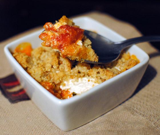 crumble sal tomates et fromage de ch vre par stella cuisine. Black Bedroom Furniture Sets. Home Design Ideas