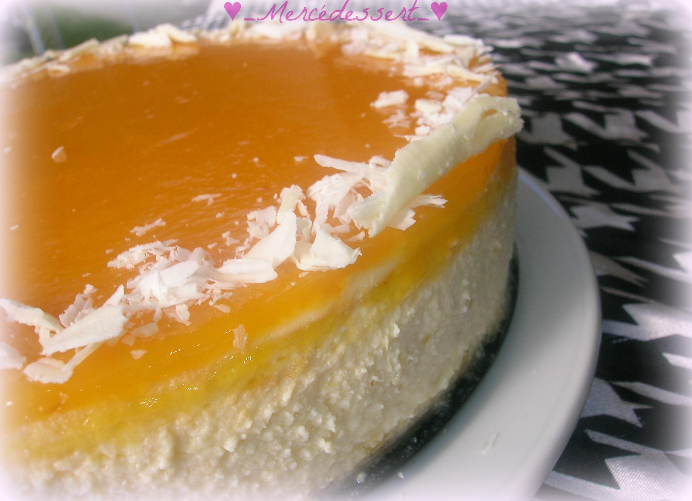 Cheesecake la mangue par merc dessert - Cheesecake philadelphia fromage blanc ...