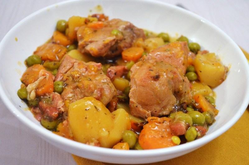 Saut de porc en rago t une recette de mijot - Cuisiner un saute de porc ...