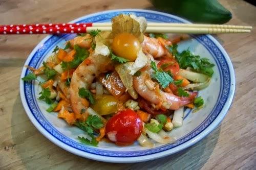 Connu Salade thaï de papaye verte aux crevettes - Recette par cuisine en  DO85