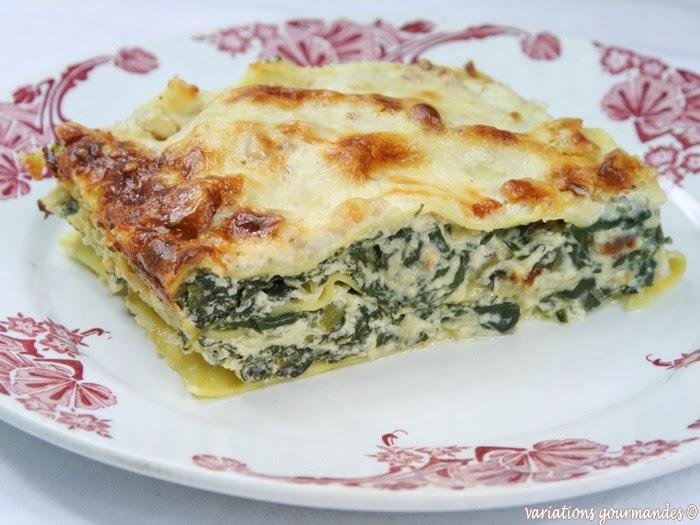 Lasagnes aux blettes ricotta parmesan et pignons une - Cuisiner les cotes de bettes ...