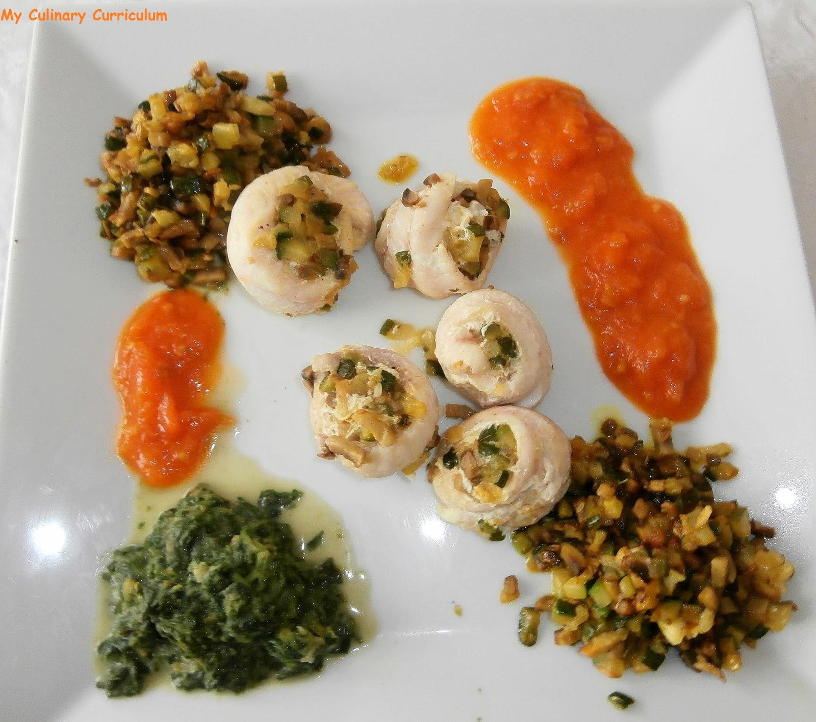 Filet de grondins duxelles de champignons et courgettes for Cuisine vapeur