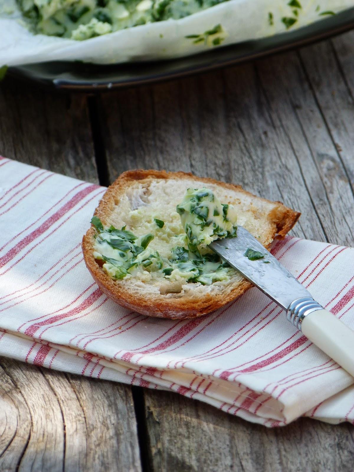 Beurre aromatis l 39 ail des ours une recette de fleurs - Cuisiner les salicornes ...
