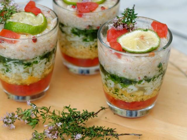 Verrines de crabe mimosa par ma cuisine et vous for Entree froide original