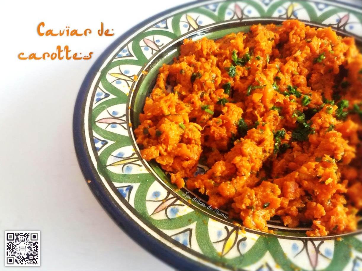 Caviar de carottes par les d lices de na ma - Que cuisiner avec des carottes ...