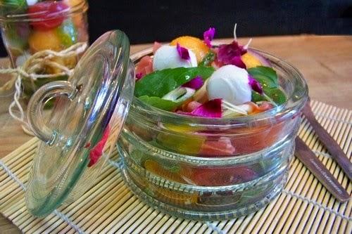 Salade fra cheur l 39 italienne dans un bocal par cuisine en folie - Salade en bocal ...