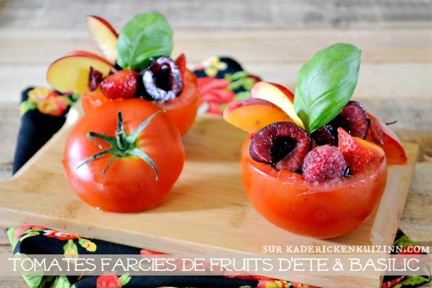 entr e sucr sal de tomates farcies aux fruits d t par kaderick. Black Bedroom Furniture Sets. Home Design Ideas