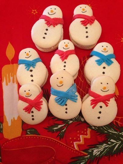 Macarons bonhomme de neige par les douceurs d 39 orel - Modele bonhomme de neige ...