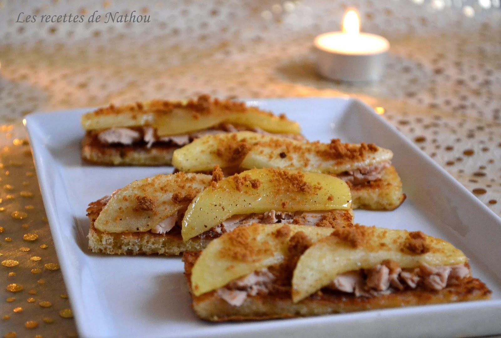 Toasts De Pain Perdu Au Foie Gras Pomme Et Sp Culoos Une Recette D 39 Amuse Bouche