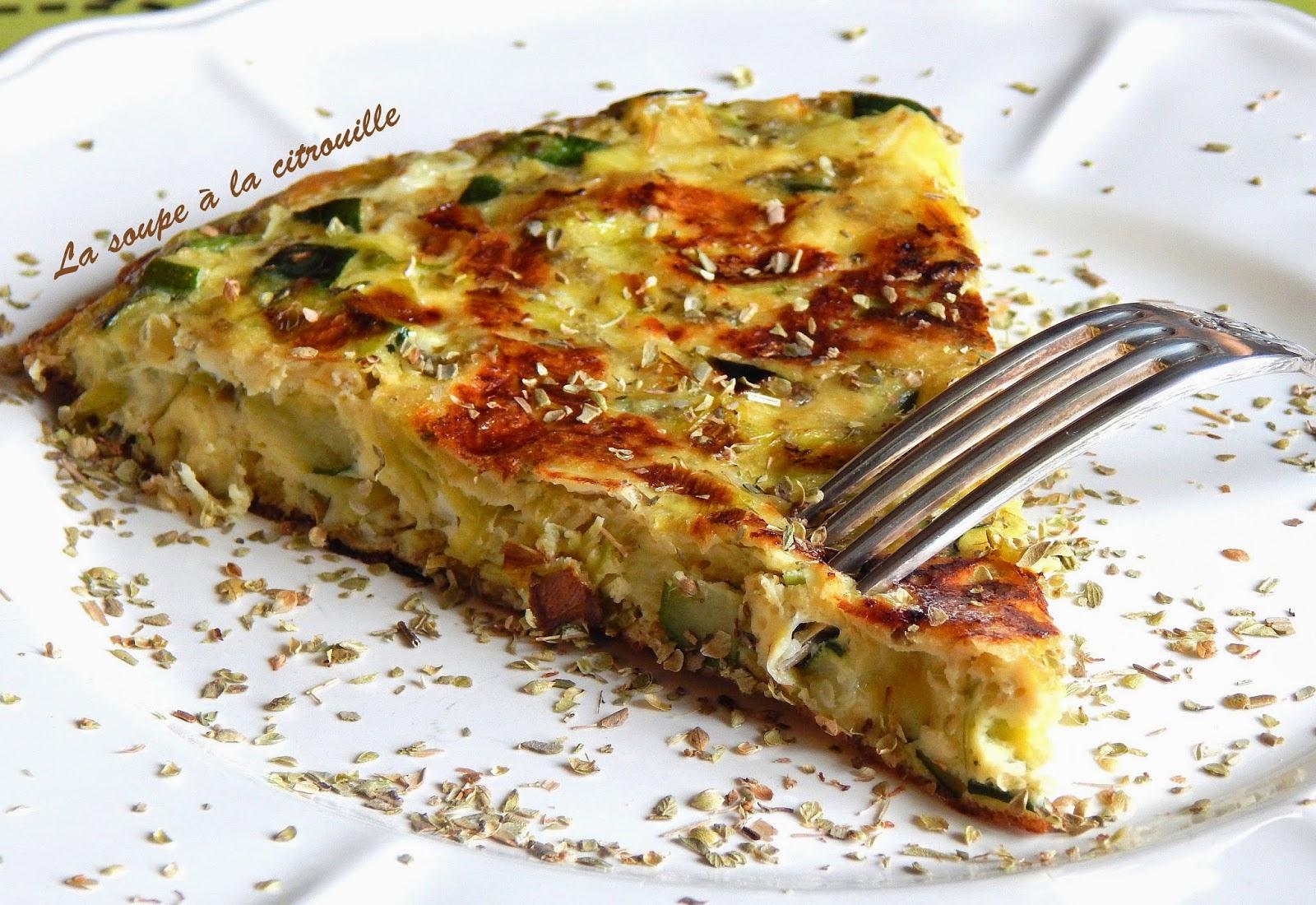Tortilla de courgettes et poireaux l 39 origan par la soupe la citrouille - Par quoi remplacer l origan ...