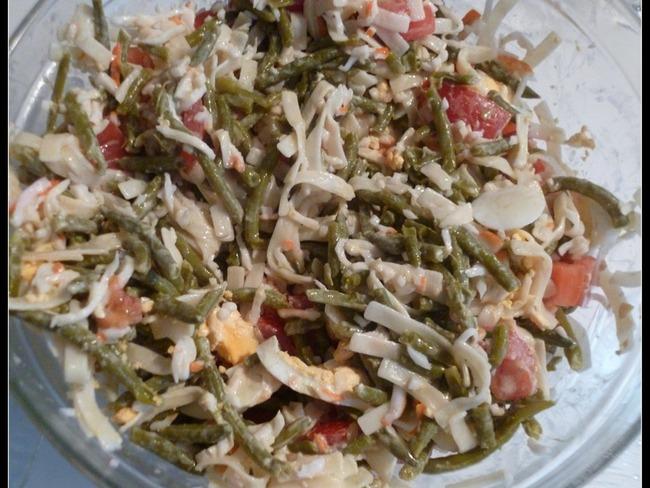 Salade d'haricots verts et pâtes au surimi - Les délices de Dida