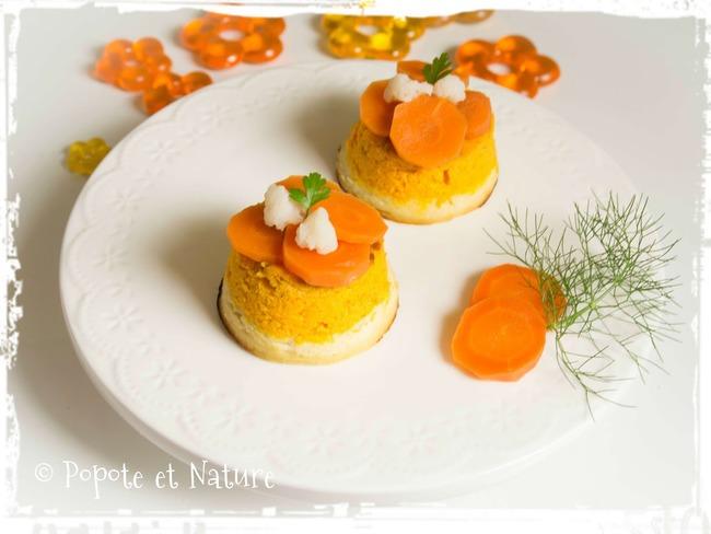 Mousse aux carottes, chou fleur et chabichou du poitou ...