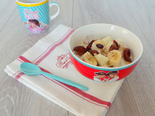 yaourt aux flocons d u0026 39 avoine  fruits et fruits secs et miel