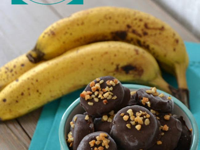 Bonbons glacés banane chocolat