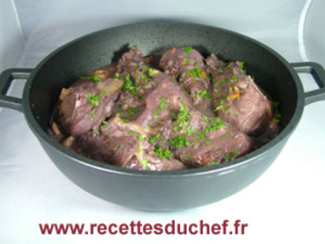coq au vin rouge la charentaise recette par recettes du chef. Black Bedroom Furniture Sets. Home Design Ideas