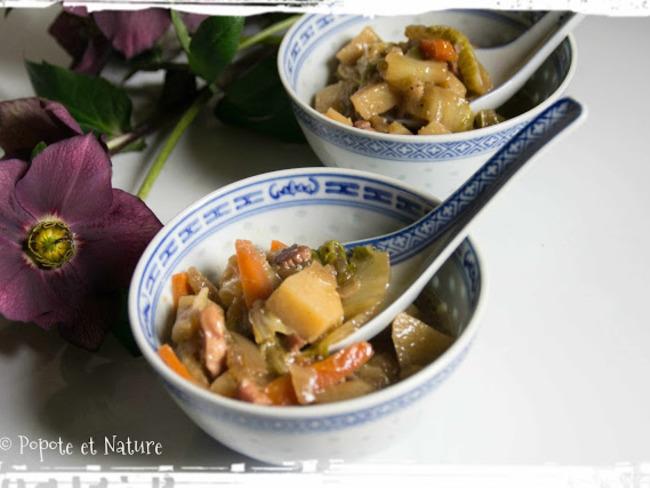 pot e de chou chinois aux carottes et pommes de terre la chinoise recette par popote et nature. Black Bedroom Furniture Sets. Home Design Ideas