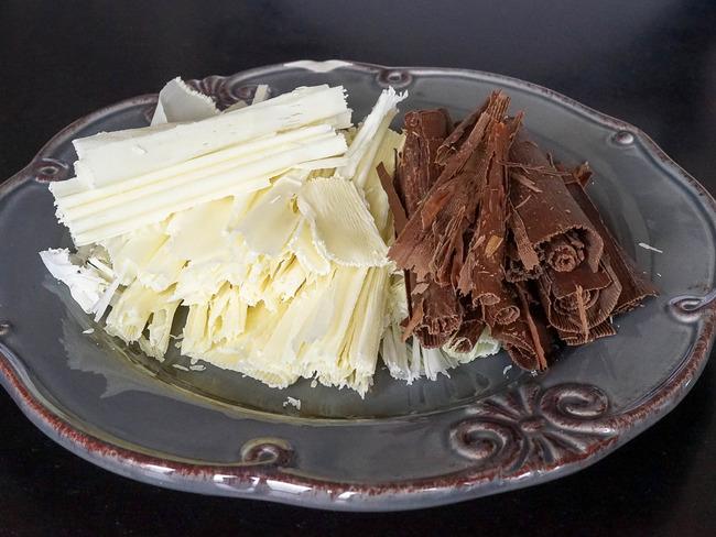Copeaux De Chocolat Recette De Copeaux De Chocolat Noir Et Blanc