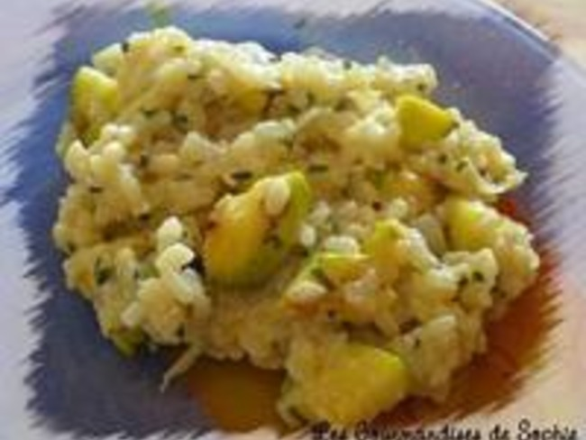 risotto courgettes vin blanc et ricotta recette par certi 39 ferme. Black Bedroom Furniture Sets. Home Design Ideas