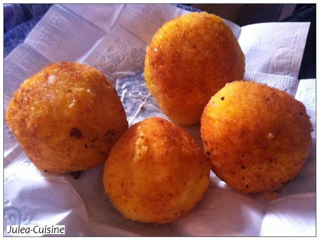Arancini boulettes de riz farcies par julea cuisine - Cuisine sicilienne arancini ...