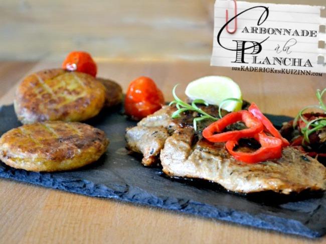Carbonnade ou grillade de porc la plancha marin e au citron et miel recette par kaderick - Carbonade de porc grillee ...