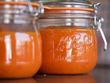 Conserves de coulis de tomates et poivons