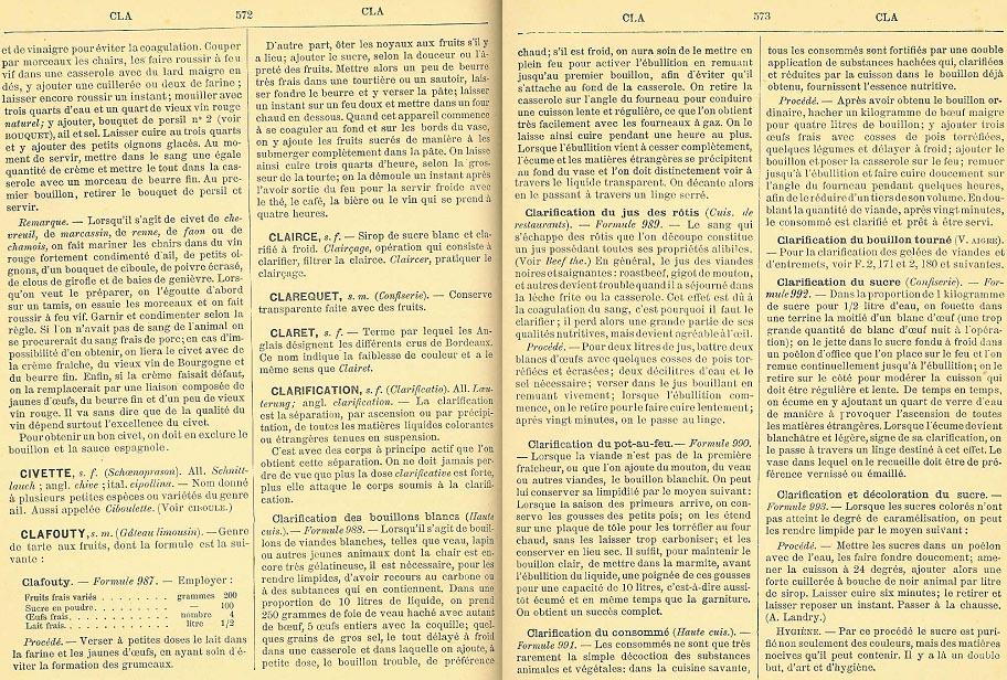 Dictionnaire universel de cuisine pratique de joseph favre - Dictionnaire de la cuisine ...
