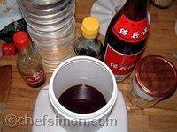 Ingrédients de la sauce aigre douce