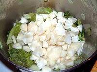 potage topinambour et salade