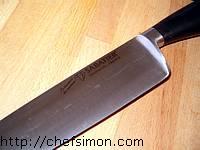 Couteau tranche lard.