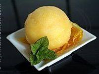 Sorbet pamplemousse orange