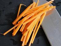 Julienne fine de carottes