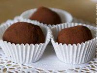Truffes de chocolat noir