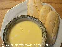 Crème anglaise et biscuits cuiller