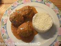 Boulettes de boeuf sauce madère